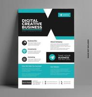 Corporate Sleek Flyer Layout Template in A4 Size. vector