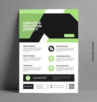 Colorful Flyer Layout Template in A4 Size, vector