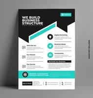 Corporate Flyer Layout Template in A4 Size. vector