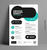 Sleek Flyer Layout Template in A4 Size. vector