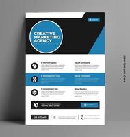 Business Flyer Template in A4 Size. vector