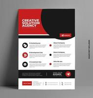 Flyer Layout Template in A4 Size. vector