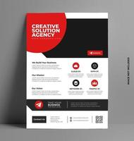 Flyer Design Layout Template in A4 Size. vector