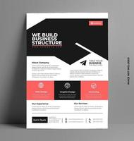 Vector Brochure Flyer Layout Template in A4 Size.