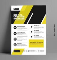 Yellow Flyer Layout Template in A4 Size.