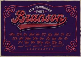 A retro script font. This font will be perfect for short phrases, emblems, shirt prints and many other uses. vector