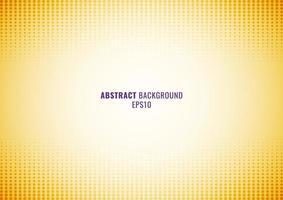 patrón de puntos abstractos semitono, fondo degradado amarillo y textura vector