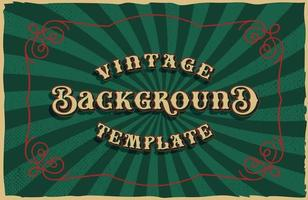 A vector old fashioned background, all elements are in separate groups.