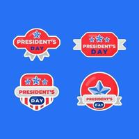 set of label greetings for president's day