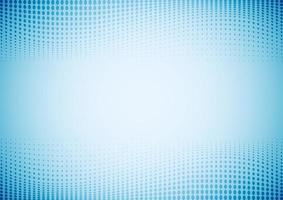 ondas abstractas patrón de puntos de semitono. fondo y textura azul degradado. vector