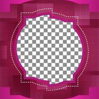 diseño de plantillas de redes sociales. diseño de portada de foto editable vector