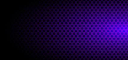 Banner template abstract black circles pattern halftone style on purple gradient background vector