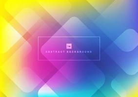 Abstract geometric square shape overlapping layers on colorful background vector