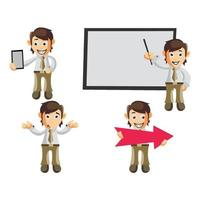 Business man illustration set vector