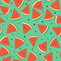 Watermelon Fruit Seamless Pattern vector