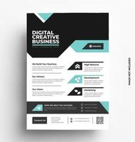 Multipurpose Corporate Business Flyer Layout Design. vector