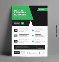 Colorful Flyer Business Brochure Design. vector