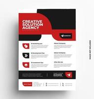 Red Corporate Flyer Template. vector