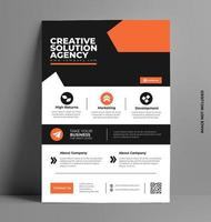 Corporate Business Flyer Template. vector