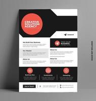 Corporate Printable Flyer Template. vector