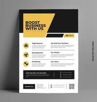 Yellow Sleek Corporate Flyer Template. vector