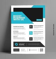 Vector Business Flyer Template.