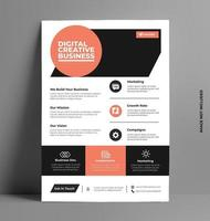 Professional Brochure Flyer Template. vector