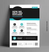 Business Sleek A4 Flyer Cover Template.