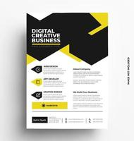 Corporate Print Two Color Flyer Template. vector