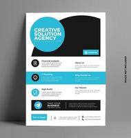 Corporate Cover Flyer Template. vector