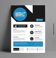 folleto de negocios corporativos modernos. vector