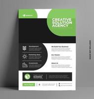 Colorful Green Flyer Template. vector