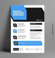 Corporate Sleek Flyer Template in A4 Size. vector