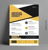 Yellow Corporate Flyer Template. vector