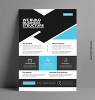 Corporate Business Flyer in A4 Size. vector