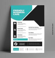 folleto de marketing empresarial profesional. vector