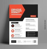 Business Company A4 Business Flyer. vector