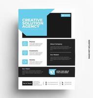 Corporate Sleek Flyer Template. vector