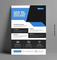 folleto de negocios corporativos azul. vector