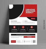 Sleek Flyer Business Brochure Template. vector