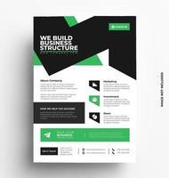 plantilla de diseño de folleto moderno corporativo. vector