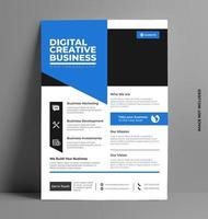 folleto corporativo de plantilla azul elegante. vector