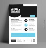 Illustrated Corporate Flyer Template in A4 Size.