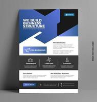 Sleek Business Template Flyer Design. vector