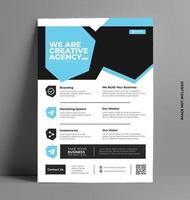 Colorful Business Brochure Flyer Template. vector