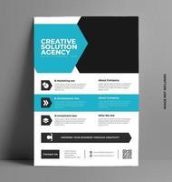 Plantilla de folleto de volante de negocios corporativos. vector