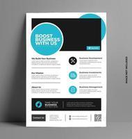 Corporate Report Flyer Template. vector