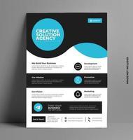 Business Template Flyer. vector