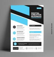 Corporate Business Services Flyer Template. vector