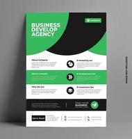 elegante plantilla de folleto comercial flyer. vector